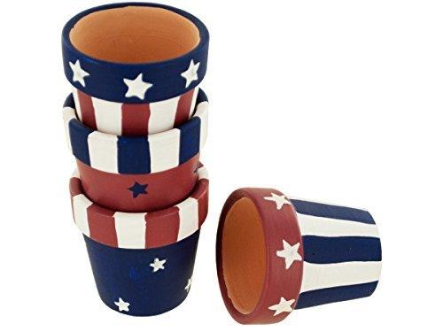 Americana Terra Cotta Napkin Rings Holders Set (set of 4)