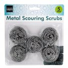 Metal Scouring Scrubs Pads Set of 5