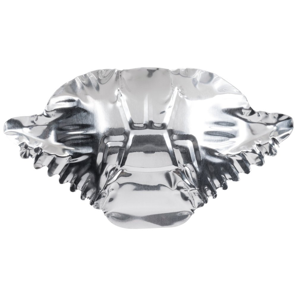 Aluminum Foil Tin Stamped/Molded Deviled Crab Design Shells (100 pack)