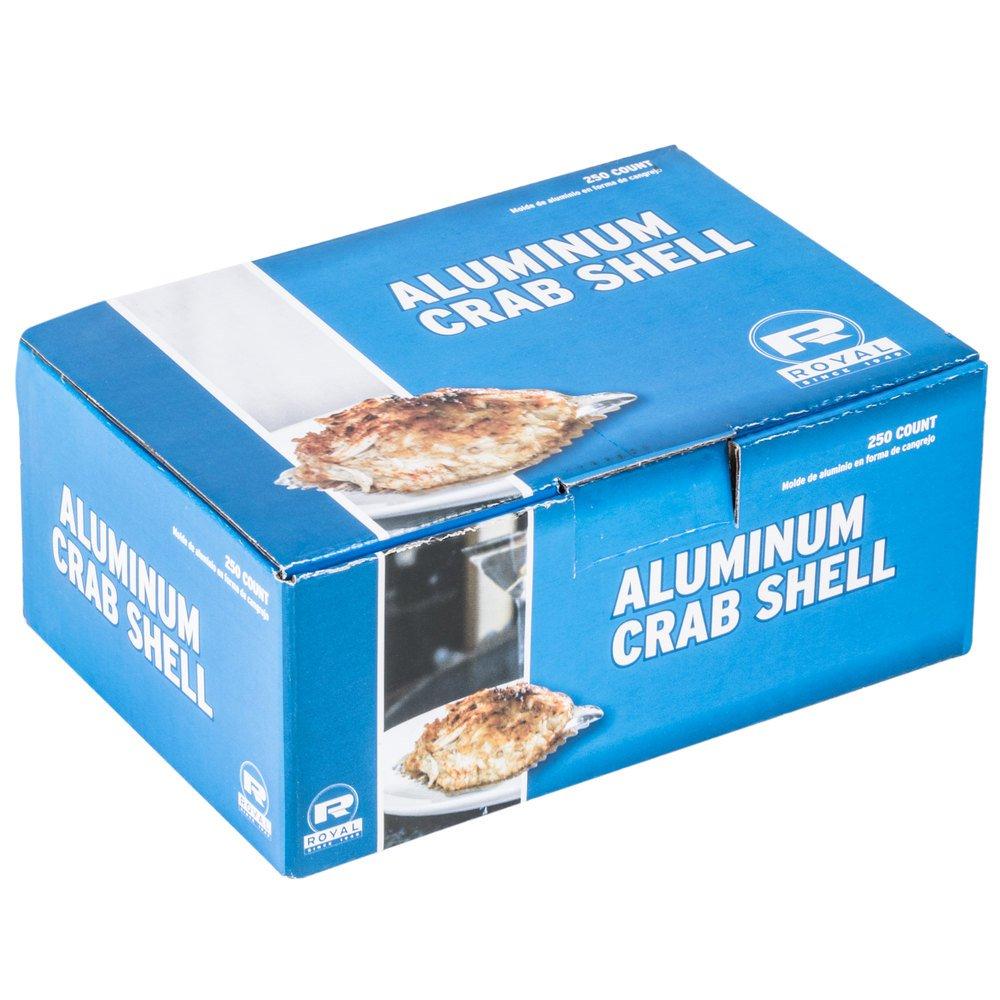Aluminum Foil Tin Stamped/Molded Deviled Crab Design Shells (250 pack)