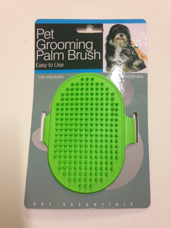 Adjustable Pet Grooming Palm Brush