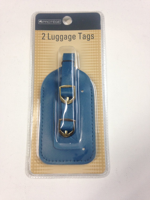 Set of 2 Vinyl Luggage Travel Tags