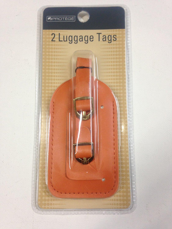 Set of 4 Vinyl Luggage Travel Tags