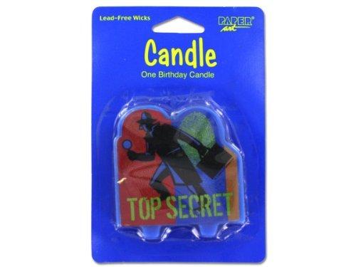 Top Secret Agent Birthday Candle