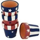 Americana Terra Cotta Napkin Rings Holders Set (set of 12)