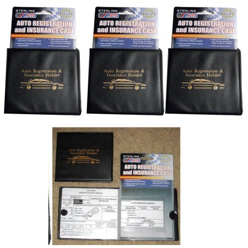 Set of 3 Vehicle Auto Car Truck Insurance Registration ID Card Documents Holders