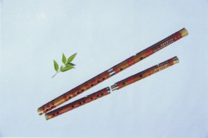 JY-105-Precise II  Professional White Bamboo Flute W/T Single Copper Joint