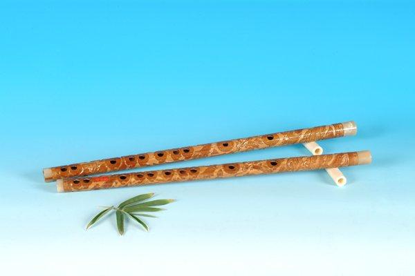 YJ-408-Bamboo Flute Engraved W/T Dragon & Phoenix
