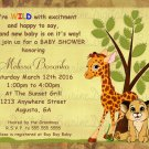 Baby Shower Invitation/ Baby Jungle Animals Baby Shower invitation