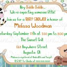 Hey Diiddle Diddle Themed Baby Shower Invitation/ Children's Nursery Rhyme Baby Shower Invitation