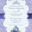 Princess Cenderella Themed Birthday Party Invitation/ Girl's Princess Party Invitation