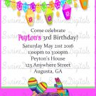 Spanish Themed Party Invitation/ It's a Fiesta!