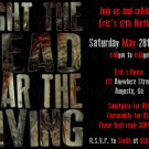 Fight the Dead Fear the Living Birthday Party Invitation/ Zombie Party Invite