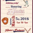 Boys Baseball Themed Invitation/ Summer Fun Party Invitation