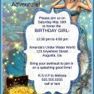 Mermaid Themed Girls Fantasy Birthday Party invitation/ Under the Sea Party invite