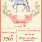 Unicorn Fantasy Birthday Party invitation/ Child's Birthday Party Invite