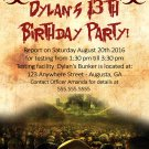 Zombie Apocalypse Walking Dead Birthday Party Invitation/Halloween Themed Party invite
