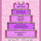 Bridal Cake Scrapbooking Style Bridal Shower Invitation