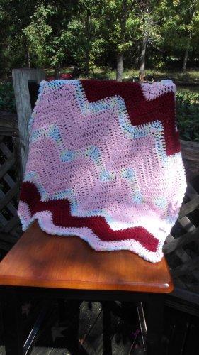 Baby Girl Handmade Crochet Light Pink and Pastels Car Seat Blanket/ Baby Girl Baby Shower Gift