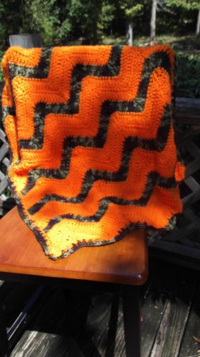 Camo and Bright Orange Baby Car Seat Blanket for Baby Boy/ Baby Boy baby Shower Gift