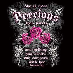 She Is More Precious Than Jewels Tee Shirt