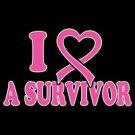 I Love A Survivor Breast Cancer Awareness Tee Shirt