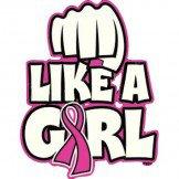 Fight Like A Girl Breast Cancer Awareness Tee Shirt