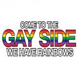 Come To The Gay Side We Have Rainbows Breast Cancer Awareness Tee Shirt
