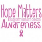 Hope Matters Support Breast Cancer Awareness Tee Shirt