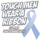 Tough Men Wear A Ribbon Support Cancer Awareness Tee Shirt