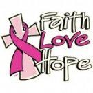 Faith Hope Love Breast Cancer Awareness Tee Shirt