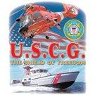 U.S.C.G. The Sheild Of Freedom Coast Guard Tee Shirt