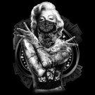 Marilyn Monroe Tattood Dueces Tee Shirt