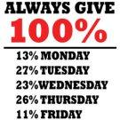 Always Give 100 Percent Tee Shirt