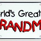 Worlds Greatest Grandma License Plate