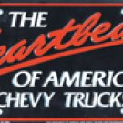 The Heartbeat Of Amercia Chevy Trucks License Plate