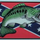 Confederate Rebel Bass License Plate