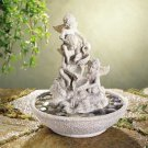 Cherub Fountain-with River Stones