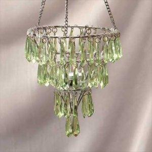 Sparkling Green Crystal Chandelier