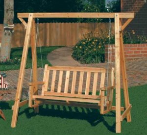 Pinewood Garden Bench Swing