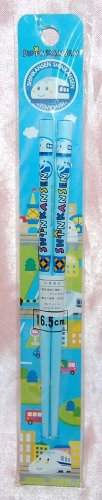 Sanrio Shinkansen Blue Plastic Chopsticks 16.5cmL Made in Japan