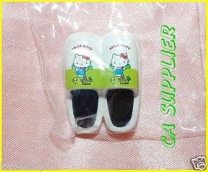 2005 Sanrio Bandai Retro Collection MINI Hello Kitty Magnet #10 White Slipper