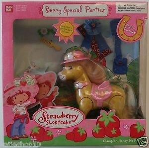 2003 Bandai Strawberry Shortcake Berry Special Parties Champion Honey Pie Pony