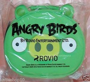 "Angry Bird Green Pig Hand Bag 10""W x 4""thk x 8.5""H w/ Zip - Rovio Licensed"