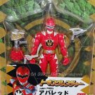 "2005 Bandai Power Rangers Talking Dinothunder Aba Red Figure w/ Sound Weapon 6"" H"
