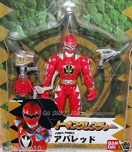 "2005 Bandai Power Rangers Talking Dinothunder Aba Red Figure w/ Sound Weapon 6""H"