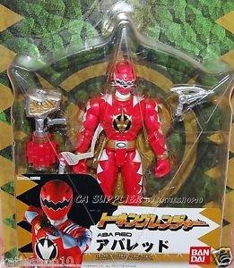 "2005 Bandai Power Rangers Talking Dinothunder Aba Red Figure w/ Sound Weapon 6"" H"