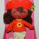 "2003 Bandai Strawberry Shortcake Berry Soft Friends Orange Blossom Doll 10""H"