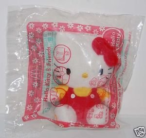 "2004 Sanrio McDonald's Hello Kitty & Friends - Hello Kitty Plush Doll Strap 3"" H"
