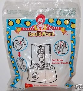 2001 McDonald's Happy Meal Toy Ronald Wizard - Soft Drink Catcher Ronald